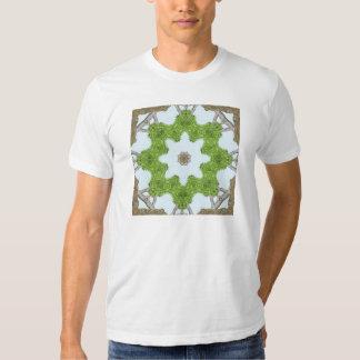 Bark Leaves Stone Kaleidoscope Art 4 T Shirt