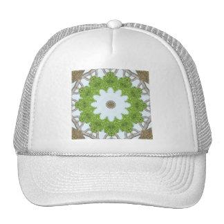 Bark Leaves Stone Kaleidoscope Art 5 Trucker Hat