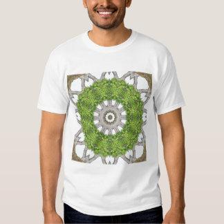 Bark Leaves Stone Kaleidoscope Art 6 Tee Shirt