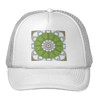 Bark Leaves Stone Kaleidoscope Art 6 Trucker Hat