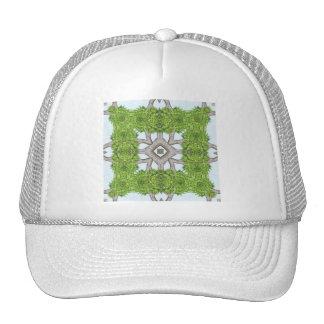 Bark Leaves Stone Kaleidoscope Art 7 Trucker Hat