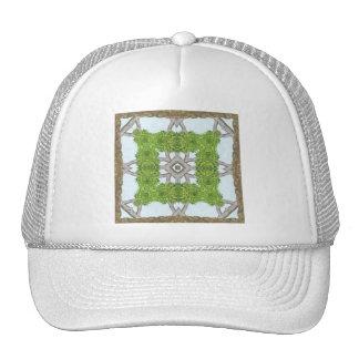 Bark Leaves Stone Kaleidoscope Art 8 Trucker Hat