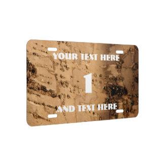 Bark License Plate