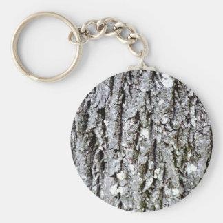 Bark Of A Hickory Tree Keychain