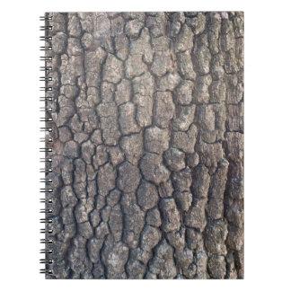 Bark of plane tree spiral notebook