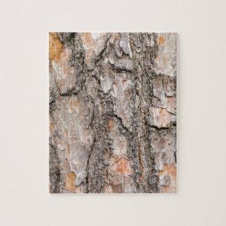 Bark of Scotch pine tree as background Jigsaw Puzzle