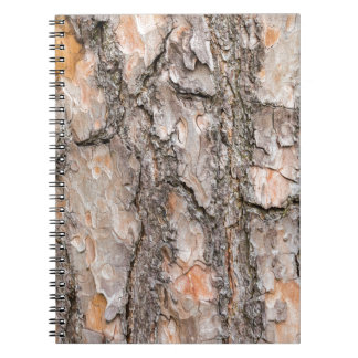 Bark of Scotch pine tree as background Spiral Notebook