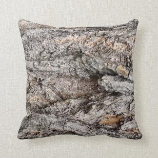 Bark of tree throw pillow
