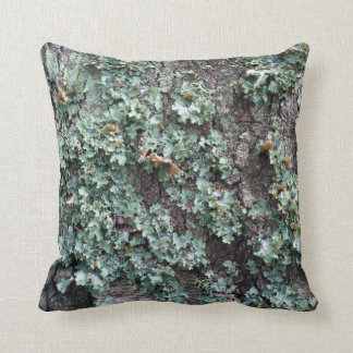 Bark of tree throw pillow