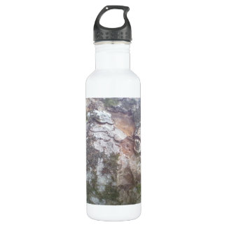 Bark on a tree water bottle