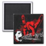 """Bark On"": Punk Rock Grunge Dog Fridge Magnet"