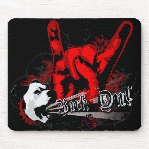 """""""Bark On"""": Punk Rock Grunge Dog Mouse Pad"""