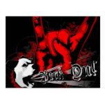 """Bark On"": Punk Rock Grunge Dog Post Cards"