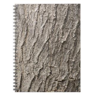 Bark pattern spiral notebook