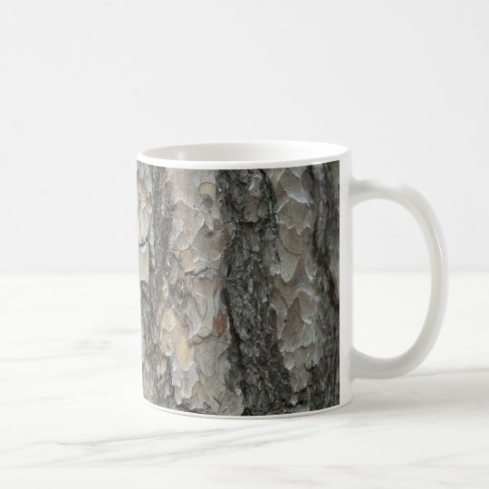 Bark Pine Wood Coffee Mug