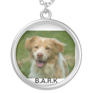 bark silver plated necklace