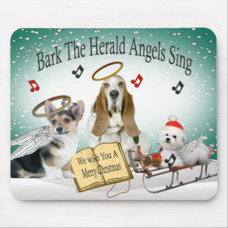 Bark The Herold Angels Sing Mousepad
