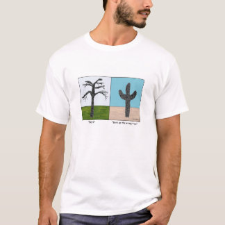 Bark up the Wrong Tree Cartoon T-shirt