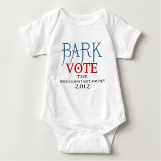Bark Vote The Dogs Against Mitt Romney 2012.png Baby Bodysuit