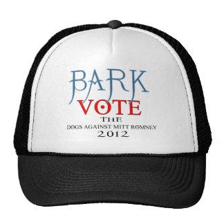 Bark Vote The Dogs Against Mitt Romney 2012.png Trucker Hats