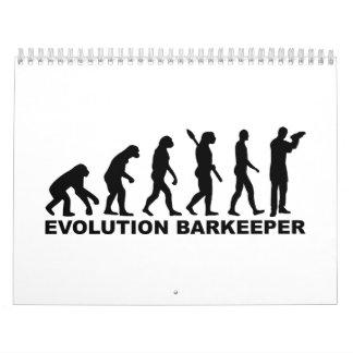 Barkeeper de la evolución calendario