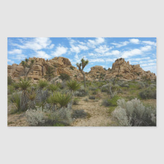 Barker Dam Loop Trail at Joshua Tree National Park Rectangular Sticker