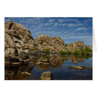 Barker Dam Reflection at Joshua Tree National Park Card