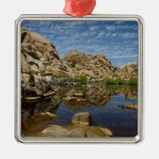 Barker Dam Reflection at Joshua Tree National Park Metal Ornament