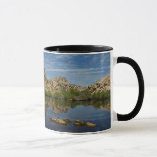 Barker Dam Reflection at Joshua Tree National Park Mug