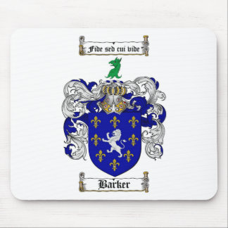 BARKER FAMILY CREST -  BARKER COAT OF ARMS MOUSE PAD