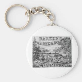 Barker's Liniment 1883 Keychain
