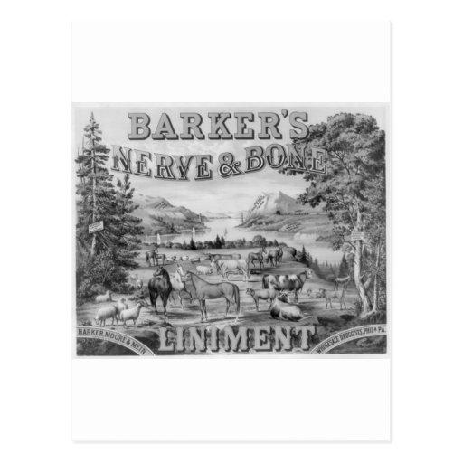 Barker's Liniment 1883 Postcard