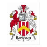 Barkham Family Crest Postcard