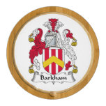 Barkham Family Crest Round Cheese Board