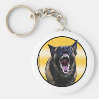 "Barking Belgian Malinois ""Maligator"" Keychain"