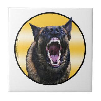 """Barking Belgian Malinois """"Maligator"""" Tile"""