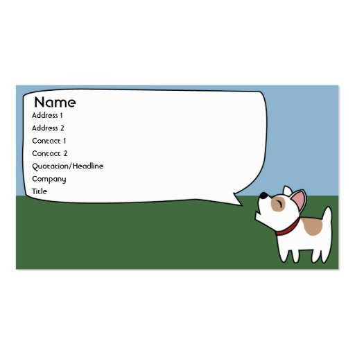 Barking Dog - Business Business Card