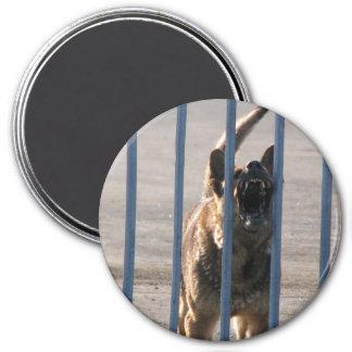 Barking dog fridge magnet