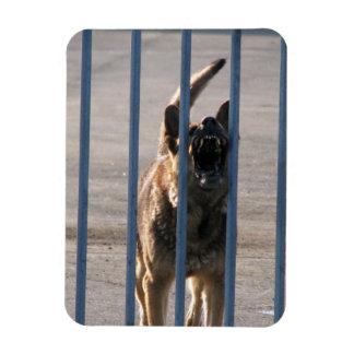 Barking dog vinyl magnets