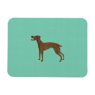 Barking dog rectangular magnets