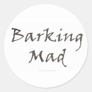 Barking Mad Classic Round Sticker