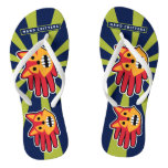 Hand shaped Barking Red Fox Flip Flops