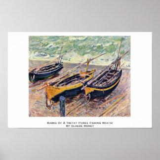 Barks Of à Tretat (Three Fishing Boats) Poster