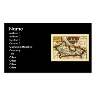"""""""Barkshire"""" Berkshire County Map, England Double-Sided Standard Business Cards (Pack Of 100)"""