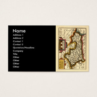 """""""Barkshire"""" Berkshire County Map, England Business Card"""