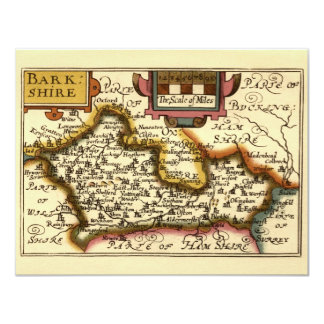"""Barkshire"" Berkshire County Map, England Card"