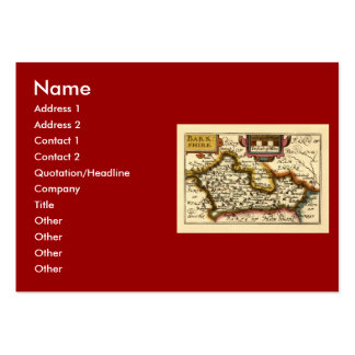 """Barkshire"" Berkshire County Map, England Large Business Card"