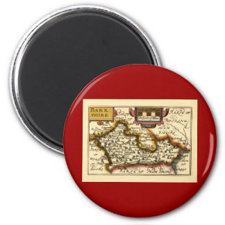 """""""Barkshire"""" Berkshire County Map, England Magnet"""