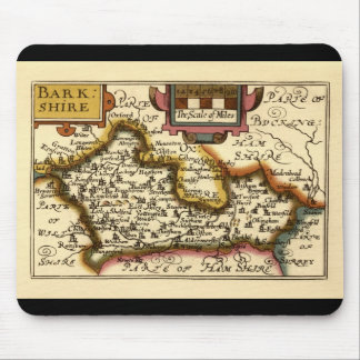 """""""Barkshire"""" Berkshire County Map, England Mouse Pad"""