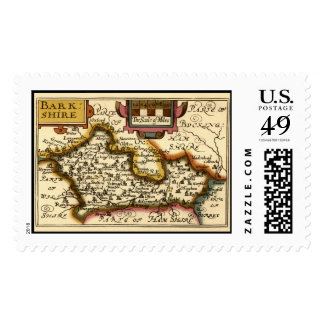"""""""Barkshire"""" Berkshire County Map, England Postage"""
